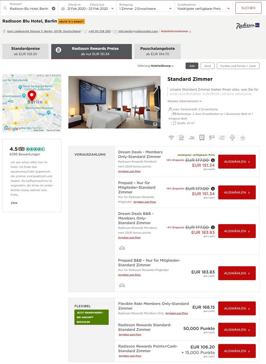 Radisson Dream Deals Raten im Radisson Blu Hotel Berlin