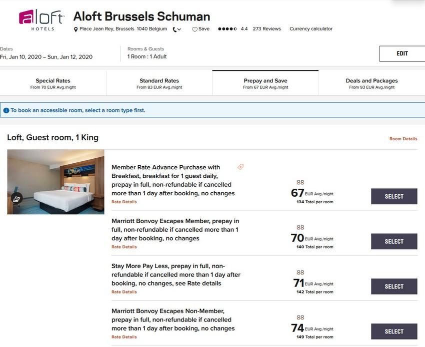 Vergleich Marriott Bonvoy Escapes Raten aloft Burssel Schuman