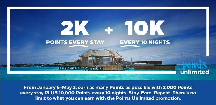 Hilton Points unlimited Promotion 2020