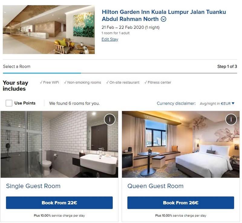 Rate im Hilton Garden Inn Kuala Lumpur Jalan Tuanku ABdul Rahman North