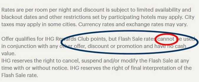 Bedingungen beim IHG Neujahrs Sale 2020