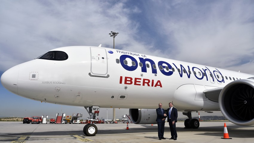 Iberia A320neo in Oneworld Livery