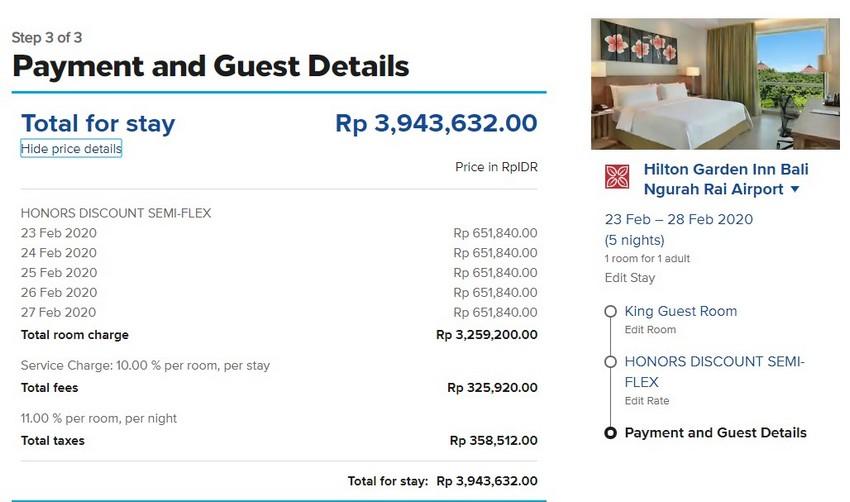 Zimmerrate im Hilton Garden Inn Bali