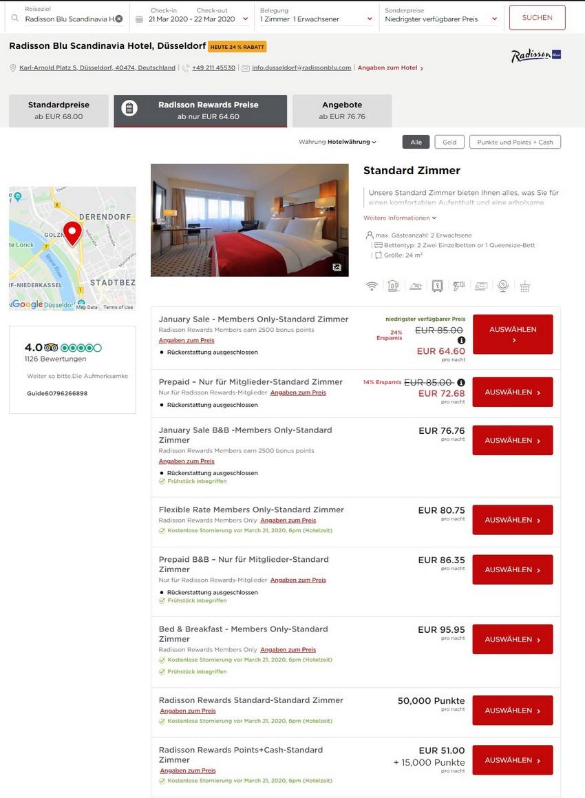 Radisson Januar 2020 Sale Raten im RadissonBlu Scandinavia Hotel Düsseldorf