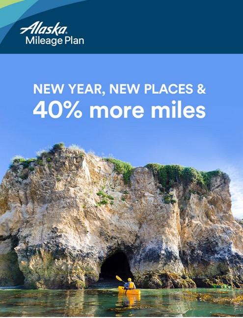 40% Bonus beim Alaska Airlines Meilenkauf bis 16.02.2020