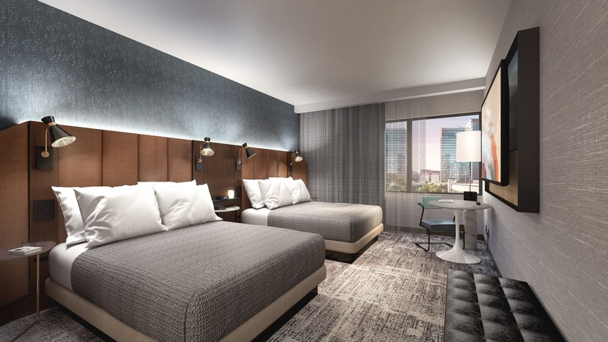 Zimmer mit zwei Queensize Betten in einem Tempo by Hilton Hotel
