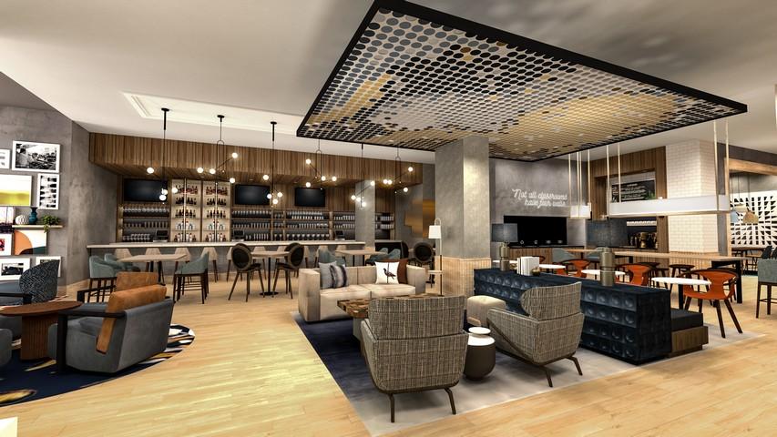 Lobby / Bar in einem Tempo by Hilton Hotel