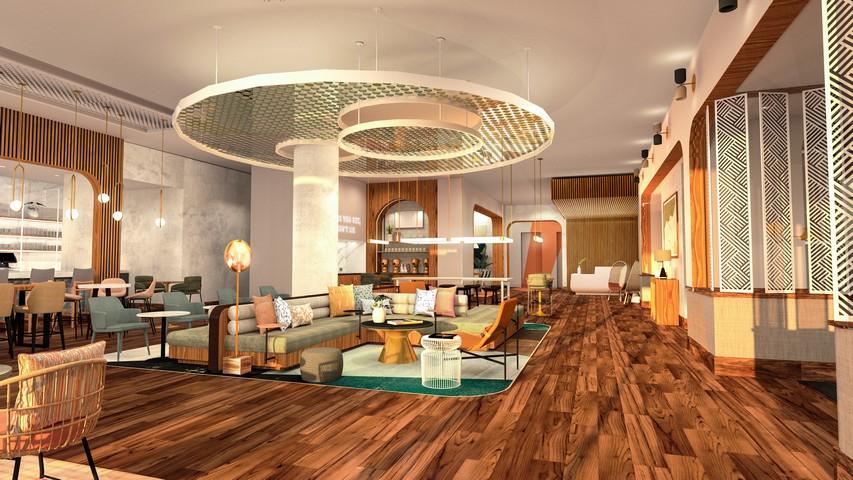 Lobby / öffentlicher Bereich in einem Tempo by Hilton Hotel