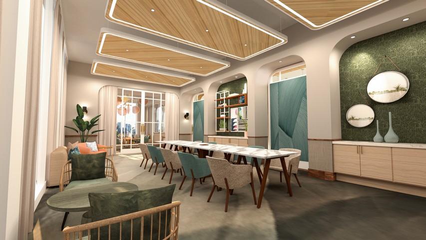 Meetingbereich in einem Tempo by Hilton Hotel
