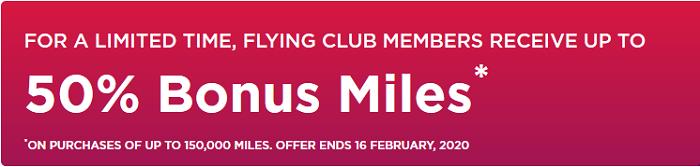 Virgin Atlantic Meilen Flash Sale bis 16.02.2020