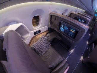 Business-Class Sitz / SQ356 SIN-MXP
