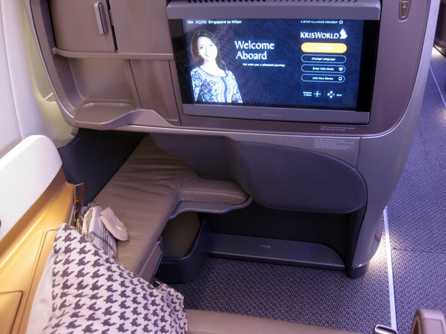 Business-Class Sitz / SQ356 SIN-MXP