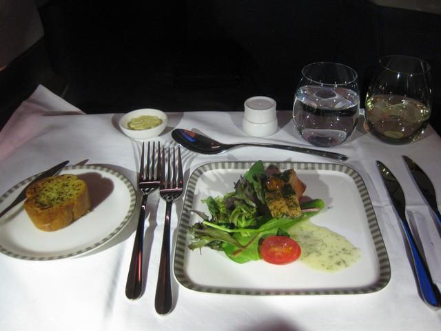 Abendessen (Vorspeise) Business-Class / SQ356 SIN-MXP