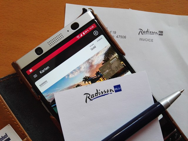 Radisson App und virtuelle Radisson Rewards Karte