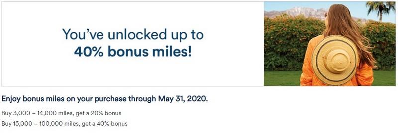 40% Bonus beim Mileage Plan Meilenkauf bis 31.05.2020