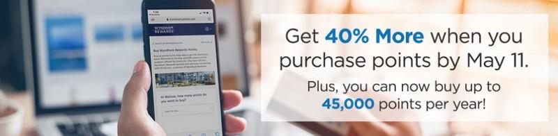 Bonus von 40% beim Kauf Wyndham Rewards Punkten bis 11.05.2020