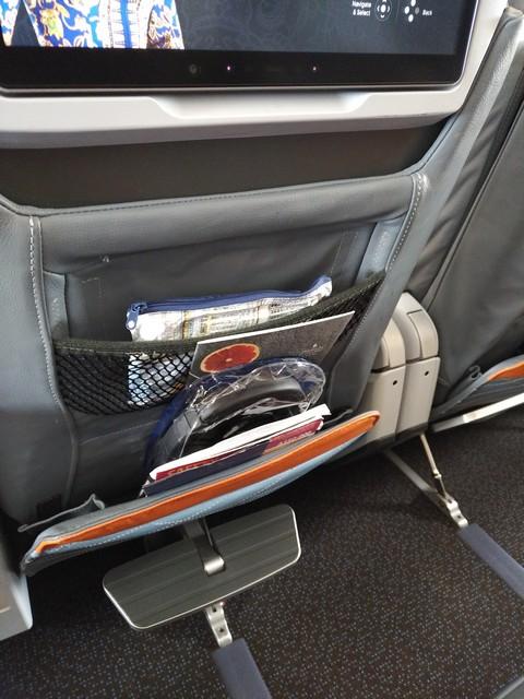 Premium-Economy-Class Sitz / SQ323 AMS-SIN