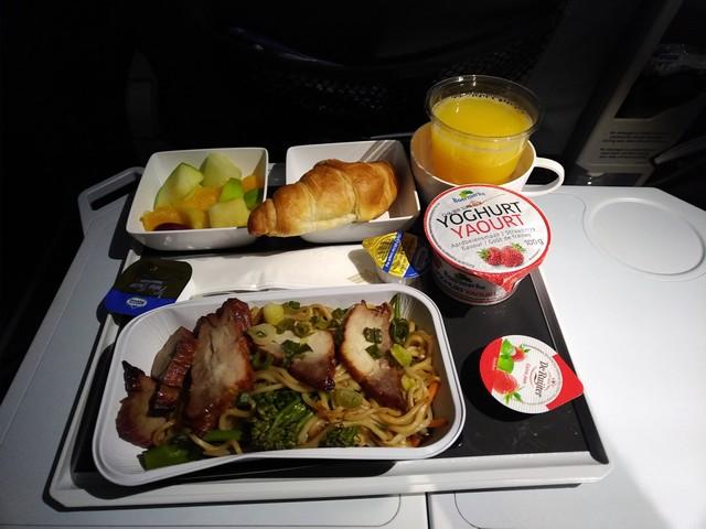 Frühstück Premium-Economy-Class / SQ323 AMS-SIN