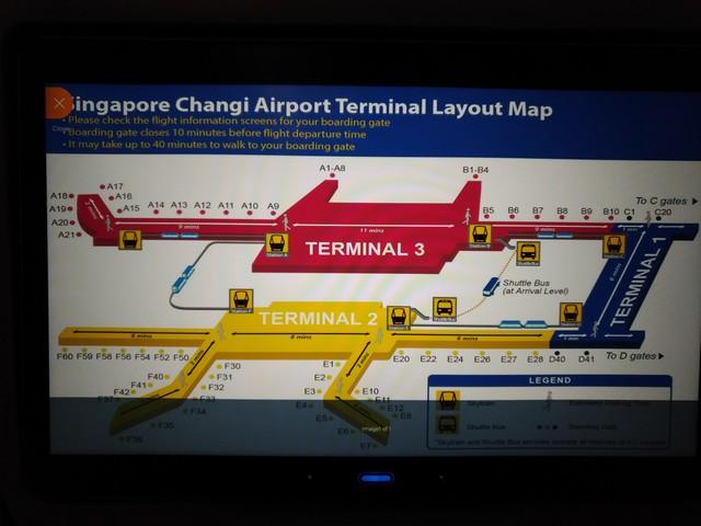 Anzeige des Terminals in Singapore / SQ323 AMS-SIN