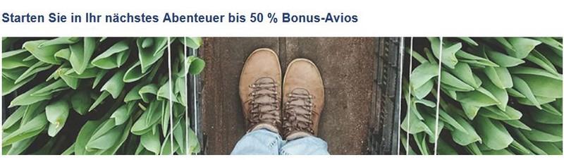 50% Bonus beim Kauf von Avios bis 18.05.2020