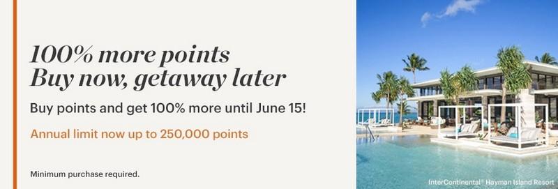 100% Bonus beim Kauf von IHG Rewards Club Punkten bis 15.06.2020