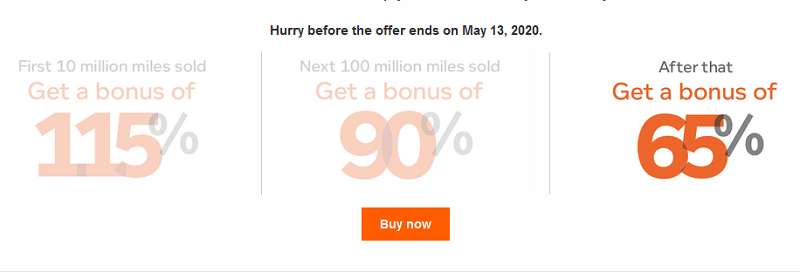 bis 13.05.2020 Air Canada Meilen mit 65% Bonus kaufen