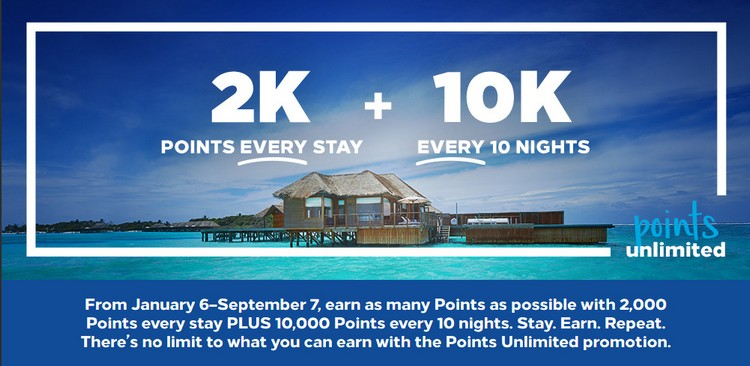 Hilton Honors Points unlimited Promotion bis 07.09.2020 verlängert