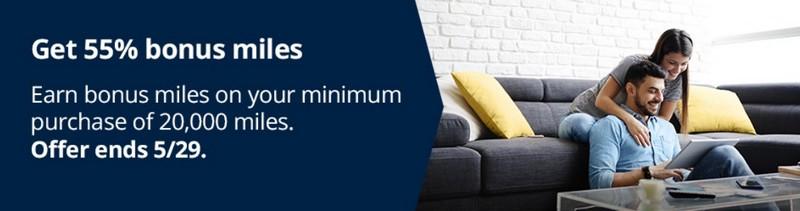 55% Bonus beim Kauf von Mileage Plus Meilen bis 29.05.2020