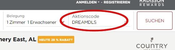 """Ratecode """"Dream Deals"""" für Radisson Sommer 2020 Sale"""