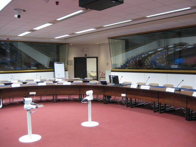 Konferenzraum im Albert Borschette Building in Brüssel