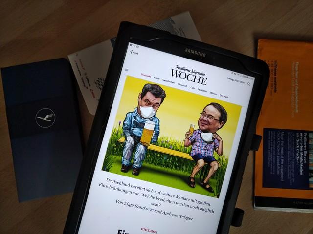 Frankfurter Allgemeine Woche und Lufthansa