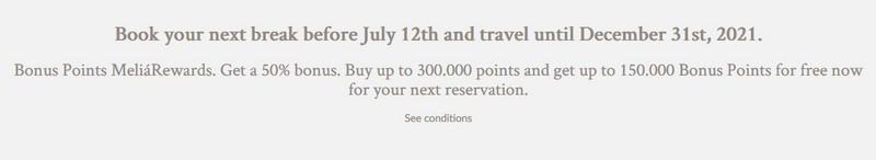 50% Bonus beim Melia Rewards Punktekauf bis 12.07.2020