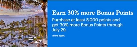30% Bonus beim Kauf von World of Hyatt Punkten bis 29.07.2020