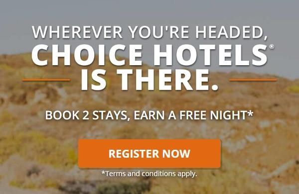 Freinacht nach jedem zweiten Aufenthalt bis 07.09.2020 in Choice Hotels
