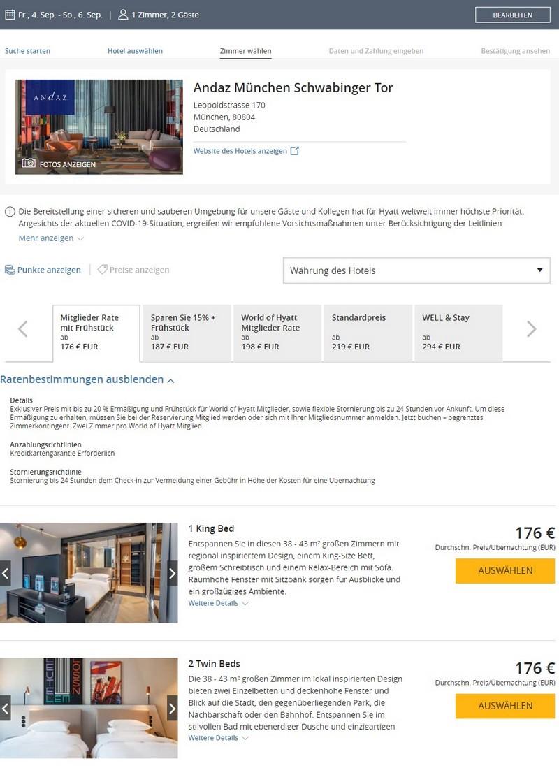 Hyatt Sonderraten für 2020 mit 20% Ersparnis im Andaz Schwabinger Tor