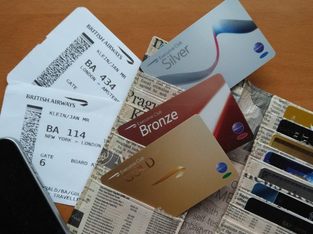 Statuskarten im British Airways Executive Club