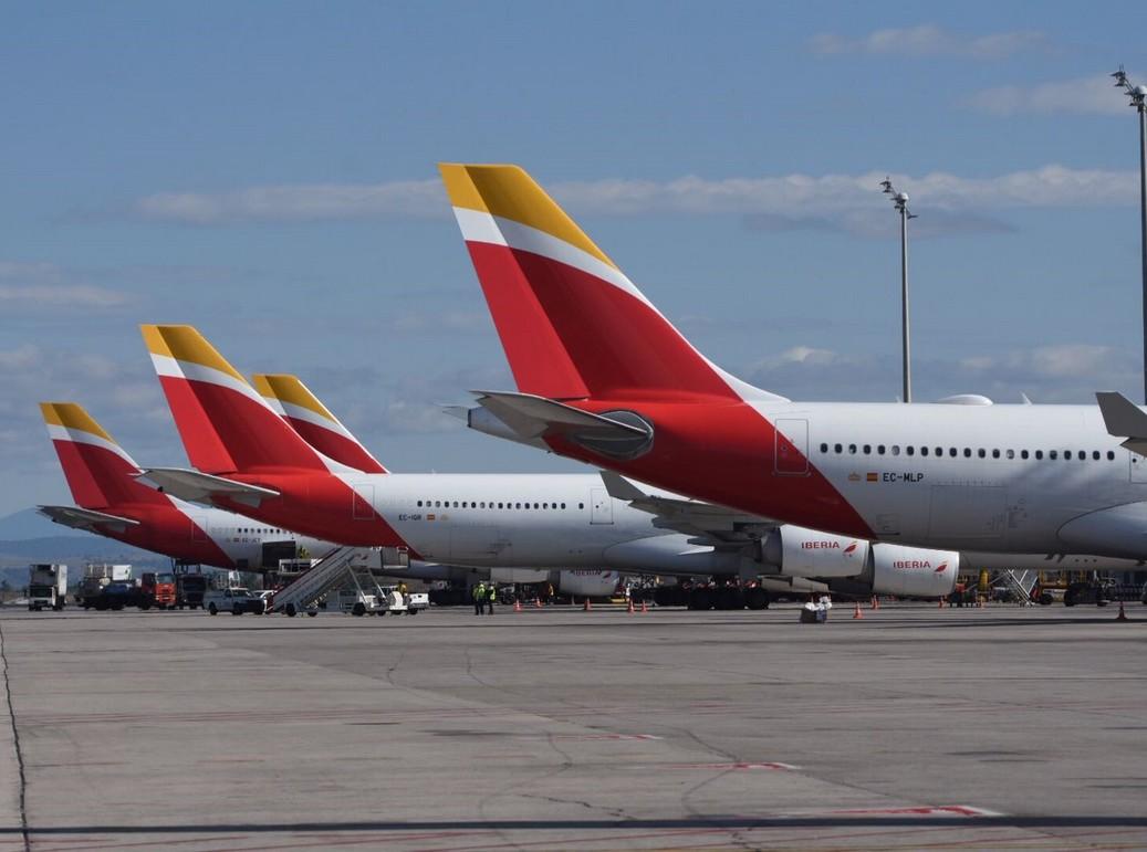 Heckflossen von Iberia Flugzeugen