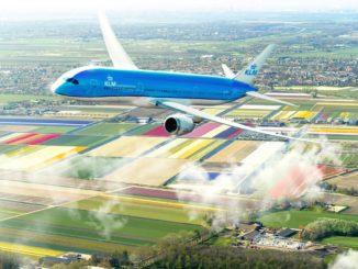 KLM 787-9 im Flug