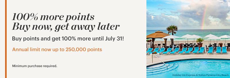 100% Bonus beim Kauf von IHG Rewards Club Punkten bis 31.07.2020