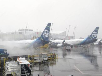 Alaska Airlines Winter Impressionen