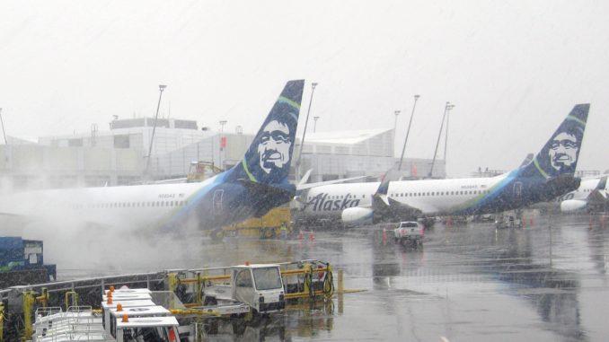 Alaska Airlines Winter Impressionen