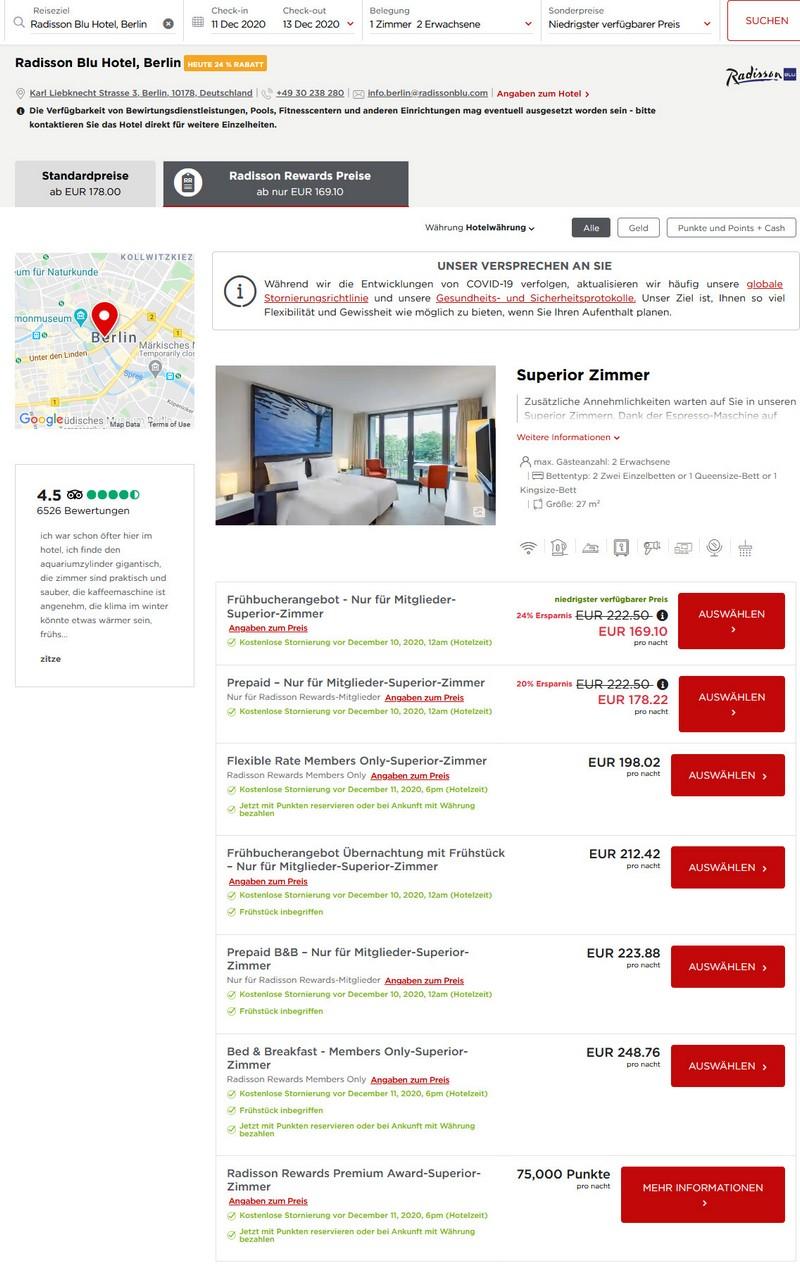 Radisson Winter Sale 2020 im Radisson Blu Berlin