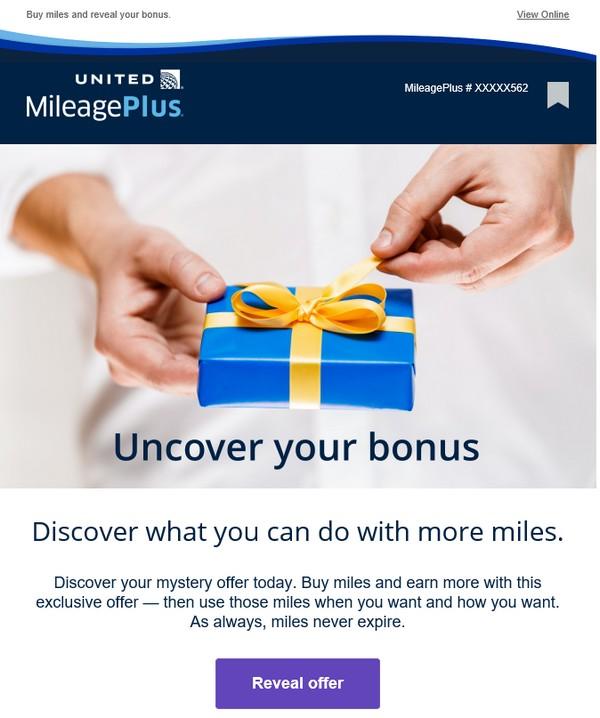 70% Bonus beim Kauf von Mileage Plus Meilen bis 27.08.2020