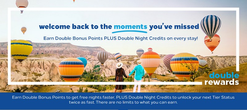Hilton Honors Double Rewards Promotion bis 31.12.2020