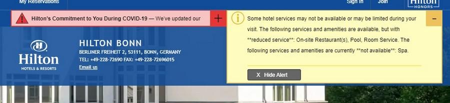 Aktuelle Serviceinformationen zum Coronavirus bei Hilton Bonn