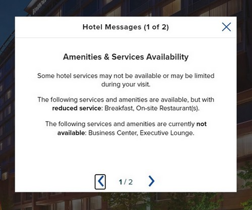 Verfügbarer Service beim Hilton Frankfurt