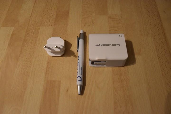 Größenvergleich des Lencent Multi USB Ladegerät