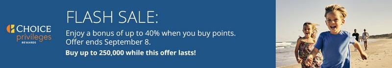 Choice Punkte Flash Sale bis 08.09.2020