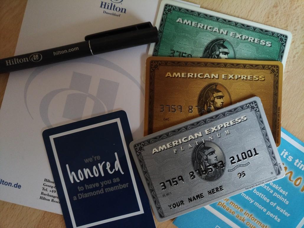 American Express und Hilton