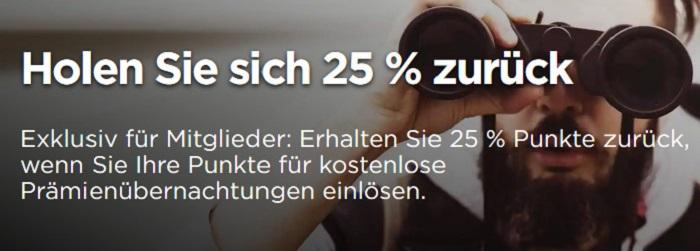 Ermäßigung von 25% bei Buchung mit Punkten für Auifenthalte in Radisson Hotels bis 20.12.2020